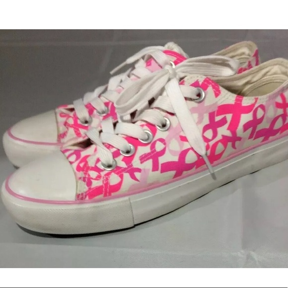 Pink Ribbon Breast Cancer Awareness women Sneakers